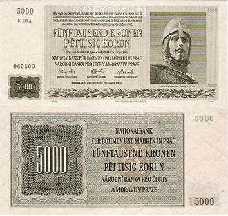 Protectorate - Banknotes of the Protectorate of Bohemia and Moravia, 1939–1945