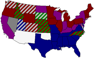 55th United States Congress - Image: 55th US Senate composition