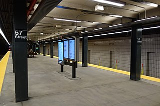57th Street station (IND Sixth Avenue Line) New York City Subway station in Manhattan