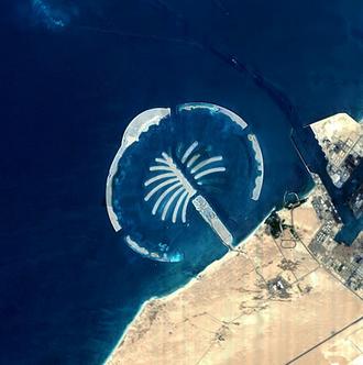 Palm Jebel Ali - Satellite imagery of Palm Jebel Ali under construction in mid-2005