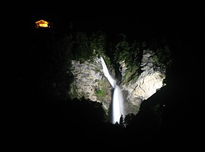 6205 - Meiringen - Reichenbachfall viewed from Sandstrasse.JPG
