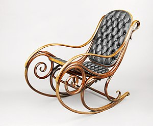 Michael Thonet - Rocking Chair, Model 1, ca 1860 Brooklyn Museum