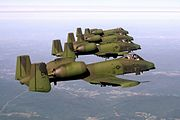 A-10As 118th TFS CT ANG in flight 1979