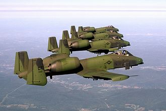 Connecticut Air National Guard - 118th Tactical Fighter Squadron A-10 Thunderbolt IIs, 1989.