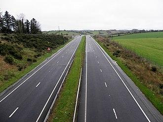 A4 road (Northern Ireland) - The A4 near Cabragh