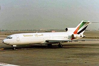 Emirates (airline) - Emirates Boeing 727-200 at Dubai International Airport (1991)
