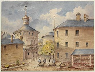 Darlinghurst Gaol - Watercolour of the Gaol by inmate Henry Louis Bertrand, 1891