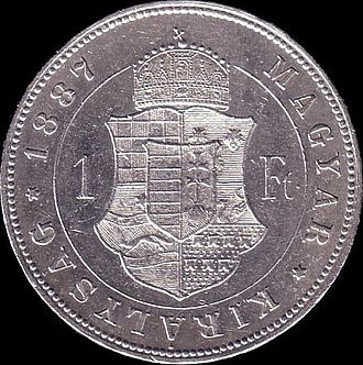 Austro-Hungarian gulden - Image: AHG hun 1 1887 reverse