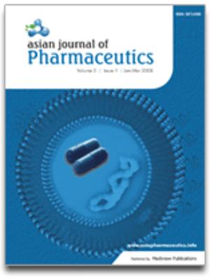 Asian Journal of Pharmaceutics - Image: AJP cover