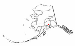Location of Lazy Mountain, Alaska