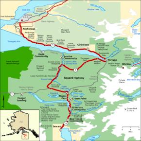 Map Of Alaska Highway System.Seward Highway Wikipedia