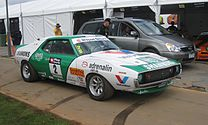 Shows the racing AMC Javelin AMX of Jim Richards