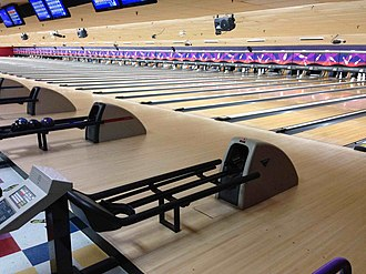 AMF Bowling Center - A typical US AMF-branded bowling center that uses AMF pinsetters