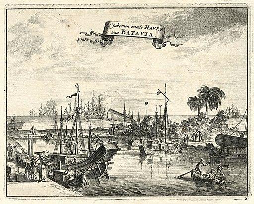 AMH-6943-KB View of Batavia harbour