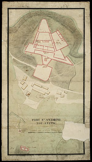 Fort Saint Anthony - Image: AMH 7679 NA Floor plan of Fort St. Antonie at Axim