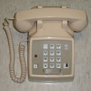 Typical standard phone used with Centrex. Note...