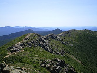Footpath - A footpath along the Franconia Ridge, Appalachian Trail, New Hampshire, USA