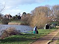 A Cold Fisherman at Heath Pond - geograph.org.uk - 317853.jpg