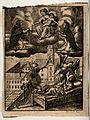 A believer, called by death, with his guardian angel pointin Wellcome V0035734.jpg