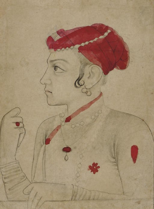 A drawing of Sulaiman Shikoh