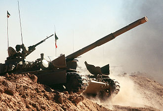 Invasion of Kuwait - A Kuwait M-84 tank during Operation Desert Shield in 1990. Kuwait continues to maintain strong relations with the coalition of the Gulf War.