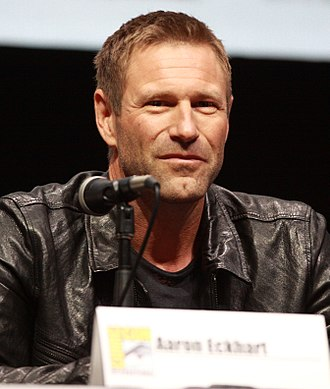 Aaron Eckhart - Eckhart at the San Diego Comic-Con International in July 2013