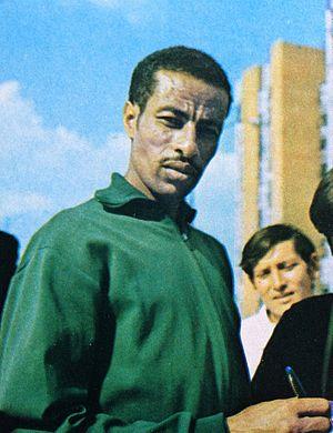 Abebe Bikila - Image: Abebe Bikila, 1972 card
