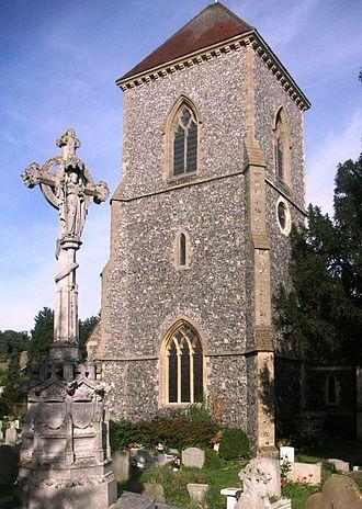 St Mary's Church, Addington - Image: Addington Church