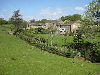 Meanwood Beck - Adel Beck and the former Adel Mill and Farm buildings