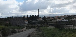 Aderet, Israel - Image: Aderet, skyline of Israeli Moshav, March 2015