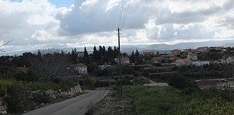 Aderet, Israel - Image: Aderet, skyline of Israeli Moshav, March 2015