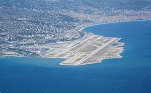 Nice Côte d'Azur Airport - The airport with Nice seen in the background