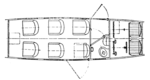 Aero A-23 cabin layout L'Aéronautique May,1928.png