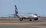 Aeroflot A320-214 from Moscow (8648459891).jpg