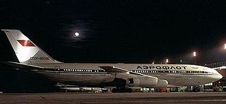Ilyushin Il-86 - An Aeroflot Il-86 at Shannon Airport in 1992.