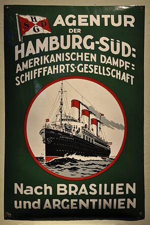 SS Cap Polonio - A Hamburg Süd poster featuring Cap Polonio