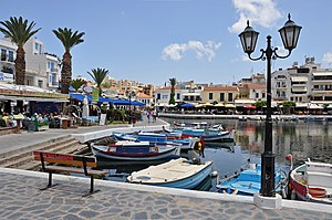 English: Agios Nikolaos (Crete, Greece): the o...
