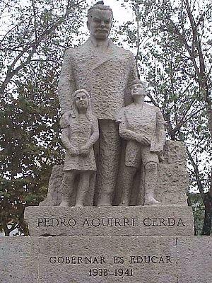 Pedro Aguirre Cerda - Monument commemorating Pedro Aguirre Cerda in Santiago