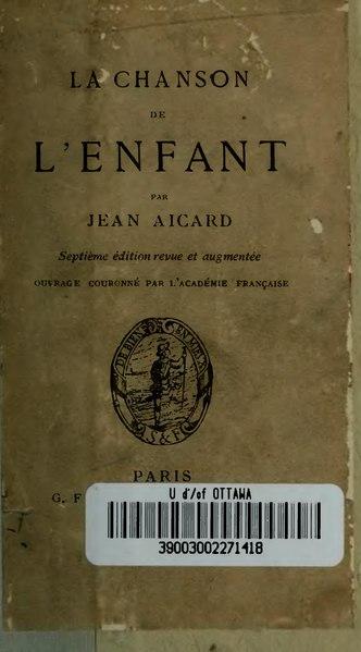 File:Aicard - La Chanson de l'enfant, éd7.djvu