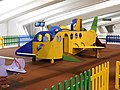 Airplane-shaped playground in the arrivals area at Bilbao Airport, Loiu, Spain.JPG