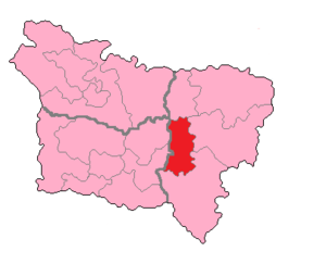Aisne's 4th constituency - Aisne's 4th constituency shown within Picardie