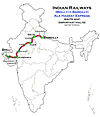 Ala Hazrat Express (Bhuj - Bareilly) Route map.jpg
