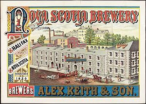 Alexander Keith's Brewery - Alexander Keith Brewery, Halifax, Nova Scotia, c. 1865-1870.