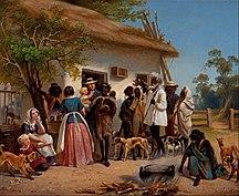 South Australia-History-Alexander Schramm - A scene in South Australia - Google Art Project