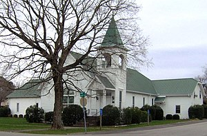 National Register of Historic Places listings in Putnam County, Tennessee - Image: Algood tennessee methodist 2