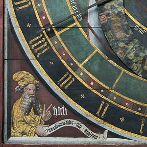 Ali ibn Ridwan - Ali Ibn Ridwan's artistic photograph (astronomical clock in the St. Nicholas' Church (Stralsund)
