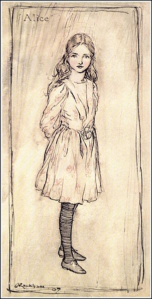 File:Alice in Wonderland by Arthur Rackham - 01 - Alice (frontispiece).jpg