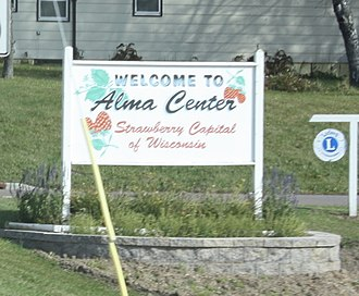 Alma Center, Wisconsin - Image: Alma Center Wisconsin Welcome Sign WIS95