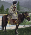 Altai man in national suit on horse.png