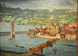 Zürich–Enge Alpenquai - The former site around 1500 AD